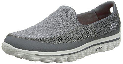 Skechers Go Walk 2, Herren Sneakers,, Grau (Charcoal), 47 - http://on-line-kaufen.de/skechers/47-eu-skechers-go-walk-2-herren-sneakers