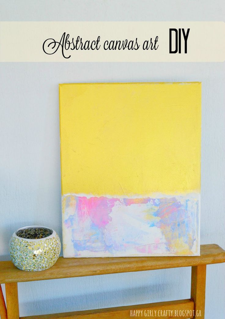 happy girly crafty: How I made abstract canvas art by accident!