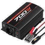 cool POTEK 700W Spannungswandler/Wechselrichter 12 VDC auf 220/230 VAC Inverter für Auto / Boot / Camping / Motorrad / Kfz mit 1*USB Anschlüsse, 1*Zigarettenanzünder, 2*Eurosteckdose,4*Ersatzsicherungen, 2*Autobatterieclips Check more at https://motorrad.cf/produkt/potek-700w-spannungswandler-wechselrichter-12-vdc-auf-220-230-vac-inverter-fuer-auto-boot-camping-motorrad-kfz-mit-1usb-anschluesse-1zigarettenanzuender-2eurosteckdose4ersatzsicherungen/