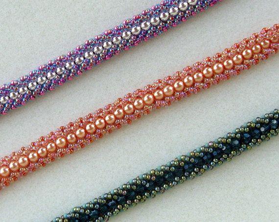 TUTORIAL Papillon Flat Spiral Bracelet by Beautiesandthebeads, $6.00