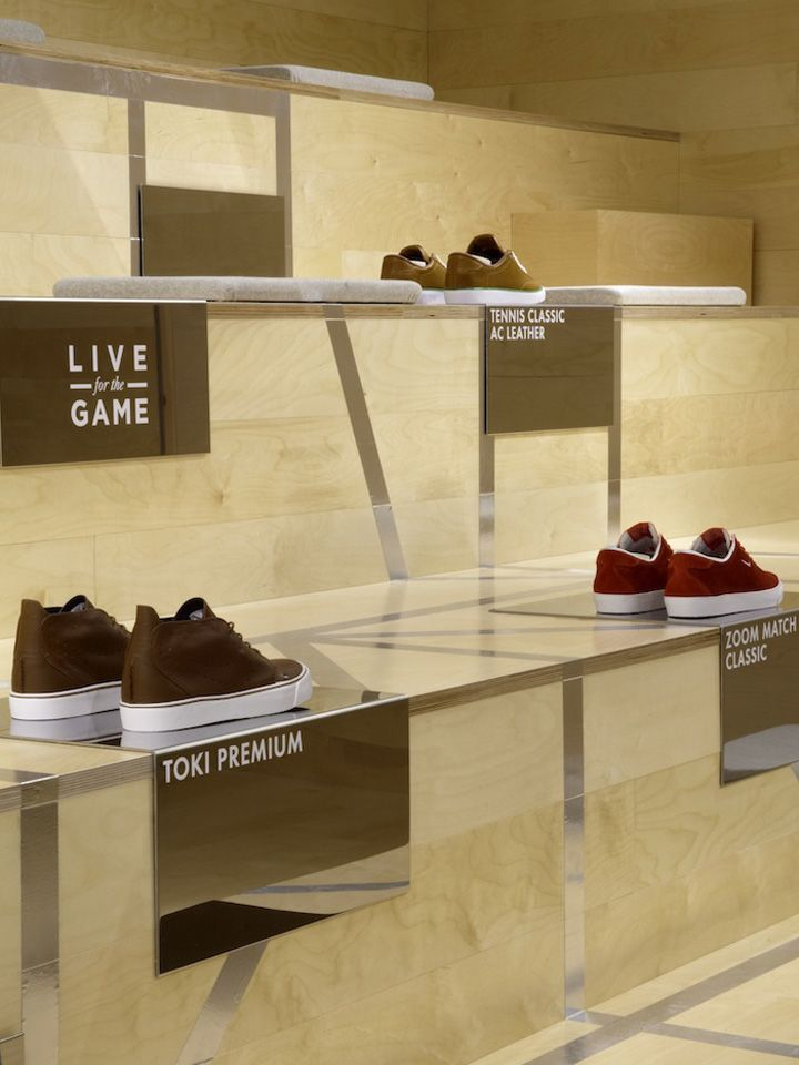 Nike 1948, London   Minimal Footwear Retail Visual Merchandising