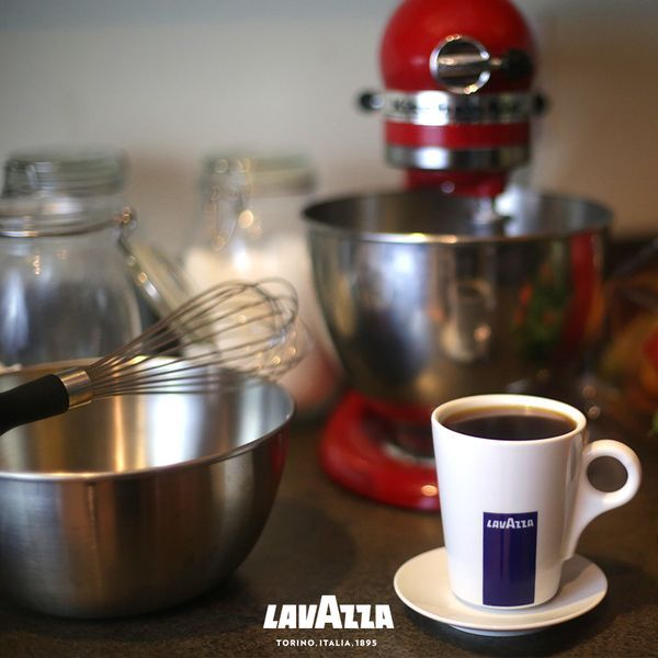 The only way to start a day of holiday baking is with a cup of our favorite Lavazza. [Promotional Pin]