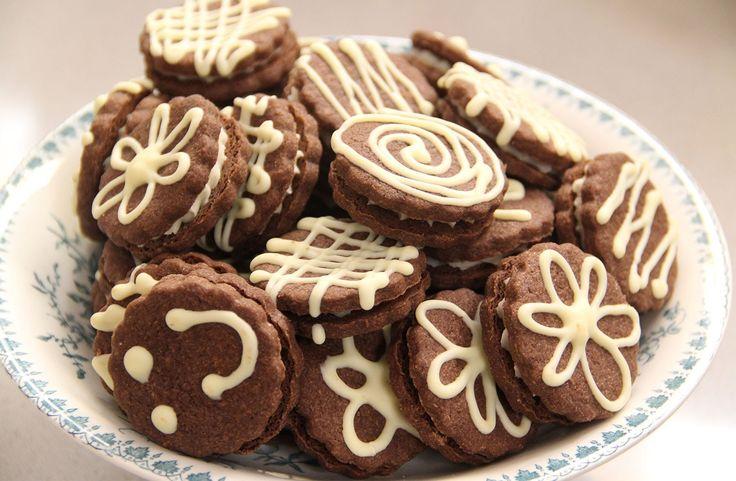 Versierde chocoladekoekjes van Saakje