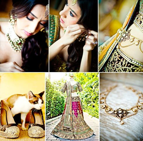 From Nisha & Jiten's wedding in Thailand. Loved her details & we specially found a kitty to pose with her shoes :-)