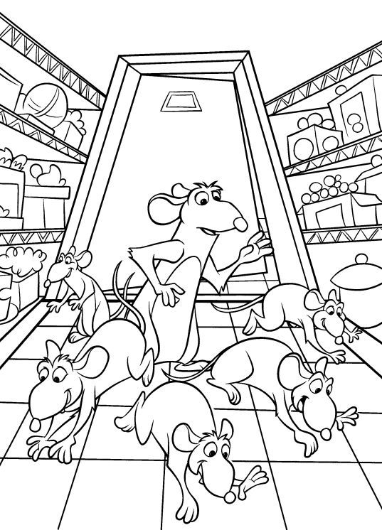 ratatouille coloring page16 - Ratatouille Coloring Pages