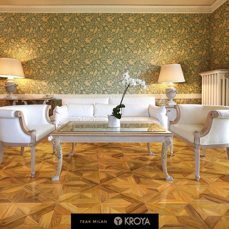 KROYA Teak Milan Design Parquet http://www.kroyafloors.com/v2/collections/design-parquet/teak-milan/