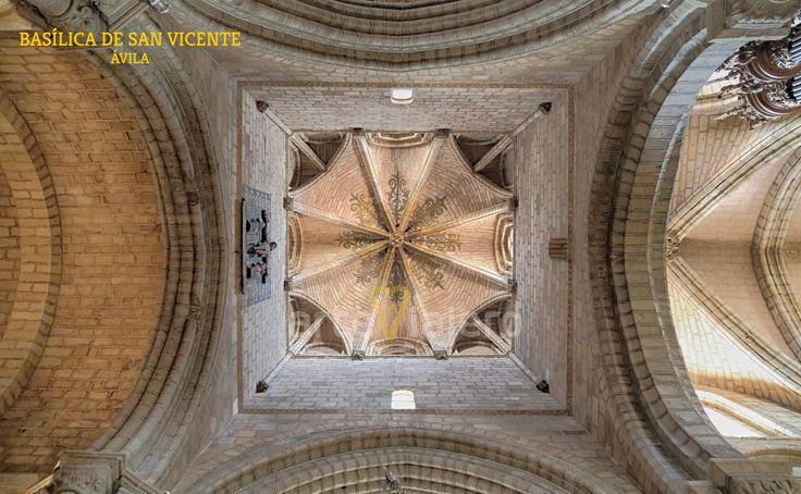 Interior del cimborrio de la Basílica de San Vicente #Ávila #cúpulas #románico #gótico