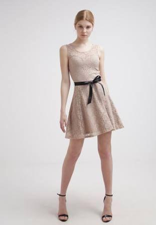 Morgan Vestido Informal Beige vestidos y faldas Vestido Morgan informal beige CentralModa.eu