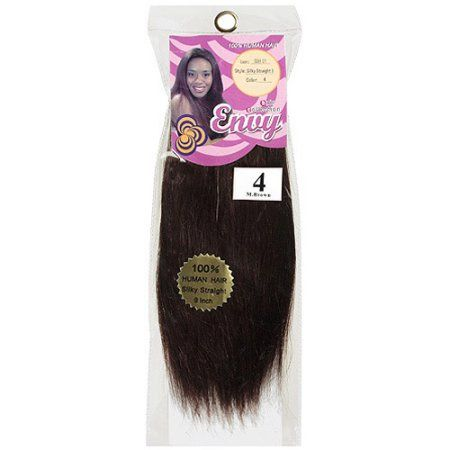 Envy Hair Collection Silky Straight Weave Hair Extension, 4 Medium Brown, Size: 9