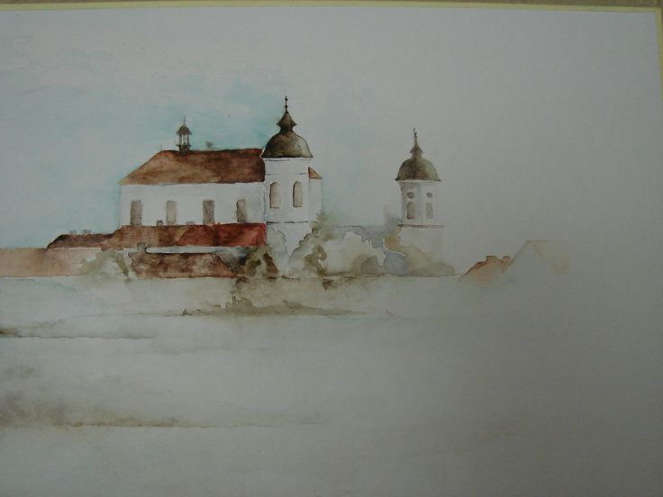watercolor painting, Wigry