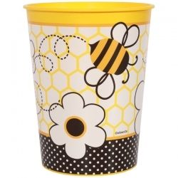 BEE Theme Classroom Decor 16 Oz Plastic Bee Cups Great Gift For Students Fill With School Supplies And Wrap Cello Or Candy Treats