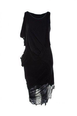 Religion Clothing Dress Cleansing With Faggoting In Jet Black. - Polyvore