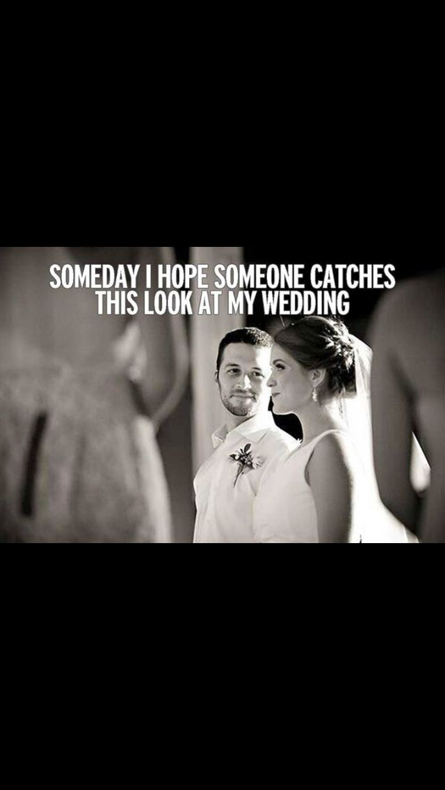 When everyone stands and turns around to watch the bride walk down the isle, I like to look back at the groom and see the look on his face when he first sees his bride :)