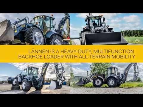 Lännen is a heavy-duty, multifunction backhoe loader with all-terrain mo...