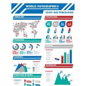 Vector Infographics of World Map - Cgvector free vector download Cgvector.com
