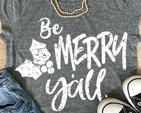 Christmas grunge svg, shorts and lemons, christmas svg, Be merry y'all svg, y'all svg, SVG, commercial use, distressed #bemerry #merrychristmas #christmassvg #htv #customshirt #etsy #affiliate