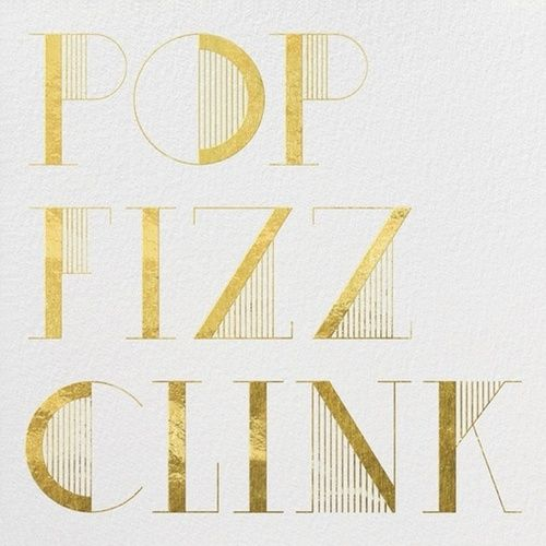 "Signature Drink ""Fitzginny"" Art Deco Font- LOVE this w/the gold www.imaginejoy.com"