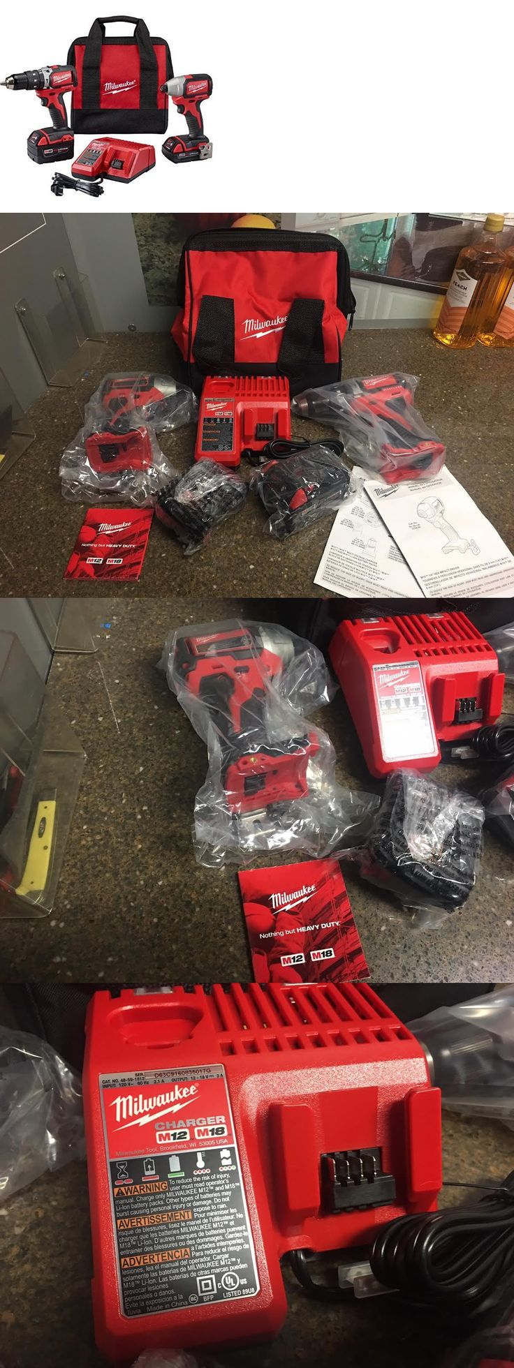tools: Milwaukee M18 Compact Brushless Hammer Drill And Impact Combo Kit 2799-22Cx New BUY IT NOW ONLY: $219.0