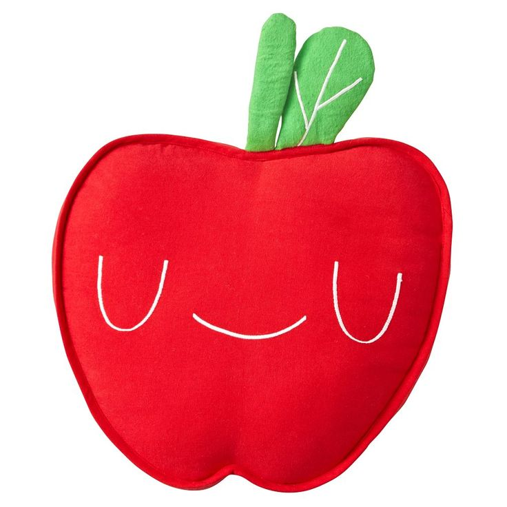 apple throw pillow from land of nod $24