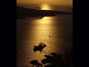 Sun set in Greece