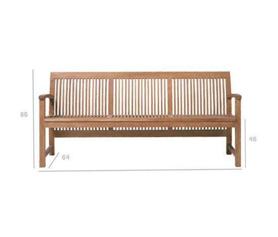 Bancos de jard n asientos de jard n praslin trib for Bancos para terrazas baratos