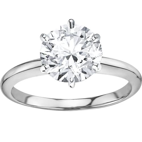 0.80CT Solitaire Diamond Ring in 18CT White Gold