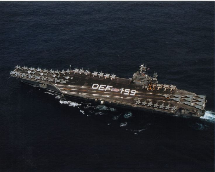 USS Theodore Roosevelt (CVN-71) completed a record 159 consecutive days at sea during her 189-day deployment in support of Operation Enduring Freedom, September 19, 2001–March 27, 2002. Official US Navy photo. @Kevin Willmann
