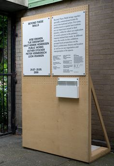 temporary signage for exhibition - Google Search