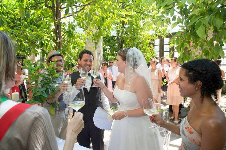 Civil Ceremony Under Lemon Trees