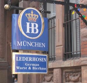 Lederhosen - One of Cocktails & Curiosities top five German Beer Halls in NYC