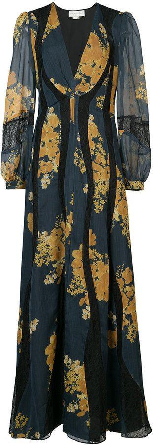 Sachin & Babi Mumbai panelled floral-print dress