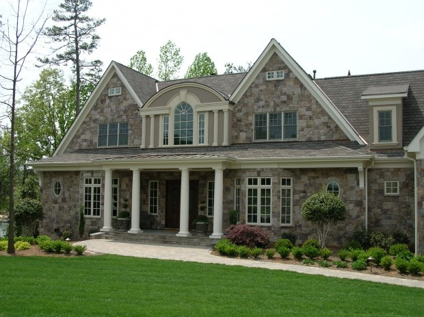 17 best images about home renovation siding on pinterest for Stone facade house