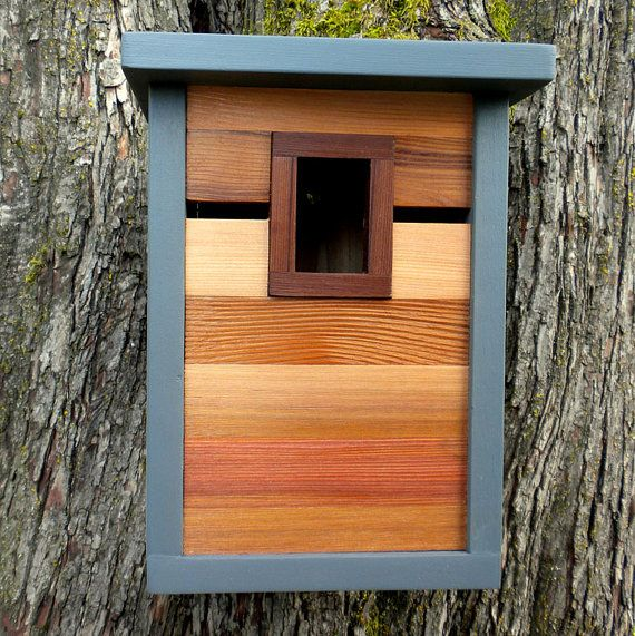 Birdhouse modern craftsman A Room With a View от twigandtimber