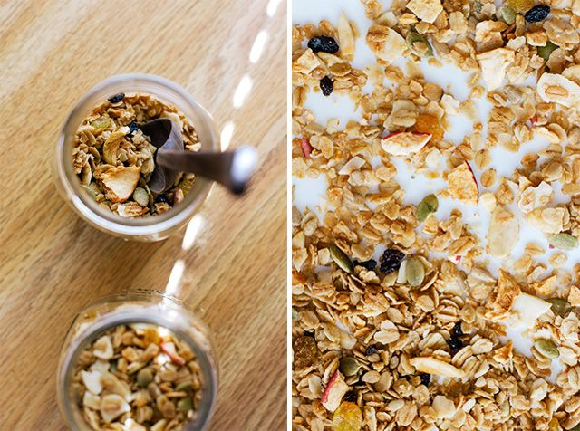 eleven madison park granola recipe with a little extra.