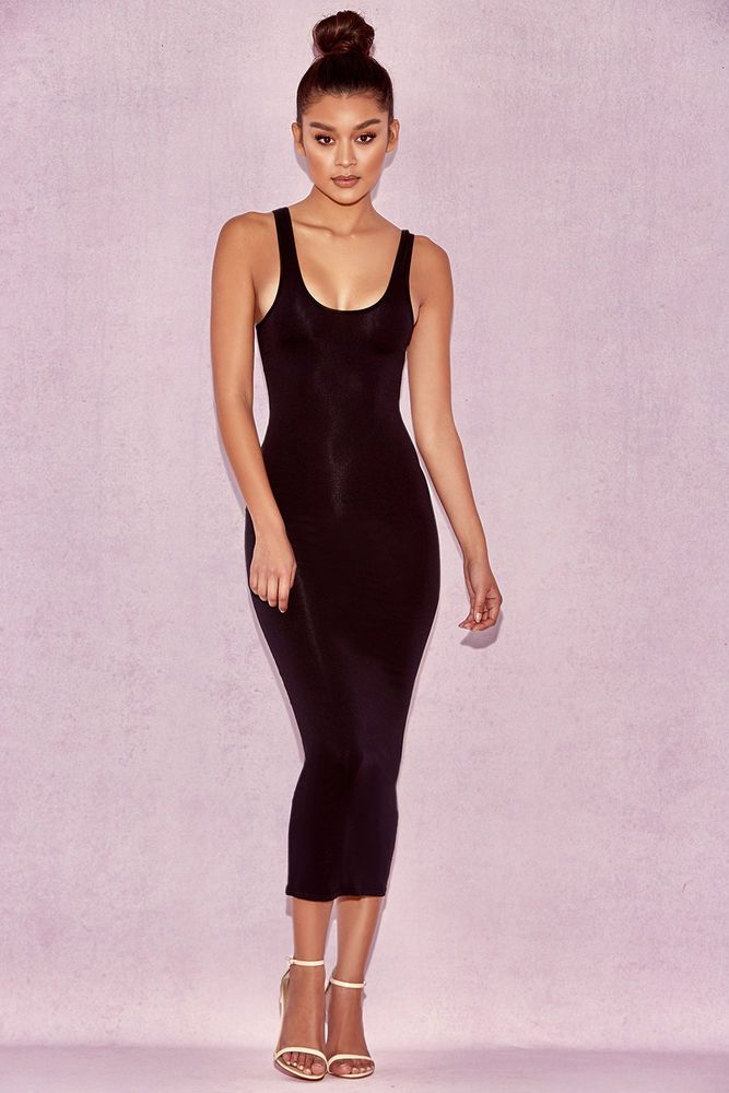 e5dfcc5fb006 House of CB  Tomlin  Black Midi Length Vest Dress S 8   10 MA 525  fashion   clothing  shoes  accessories  womensclothing  dresses (ebay link)