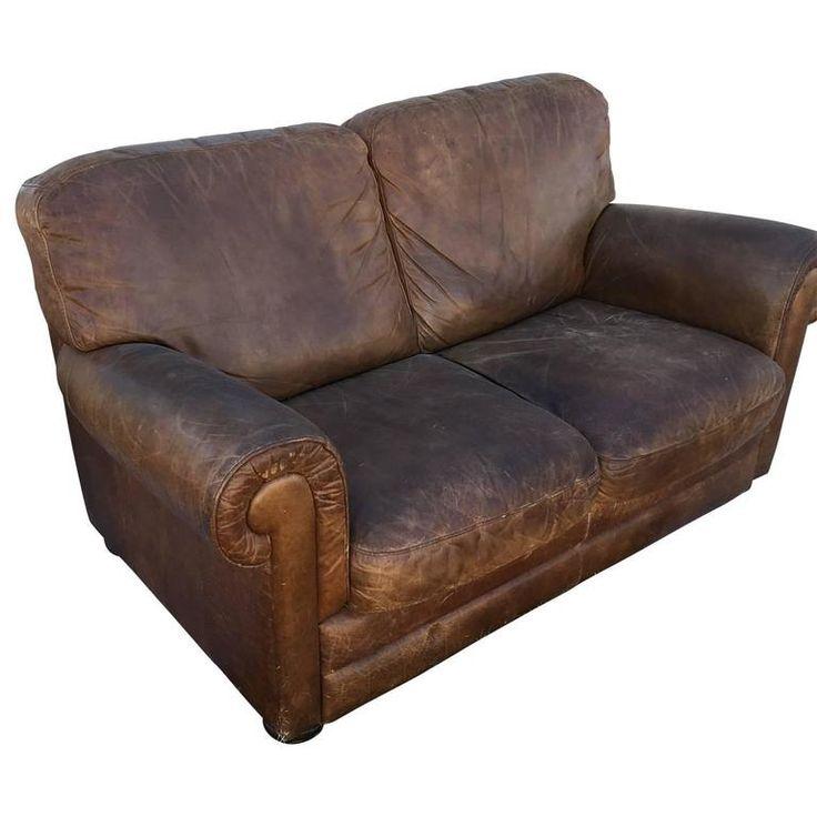 Italian Leather Sofa | 1stdibs.com