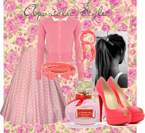 """""""Pretty In Pink: Apostolic Style"""" by emmyholloway ❤ liked on Polyvore"""
