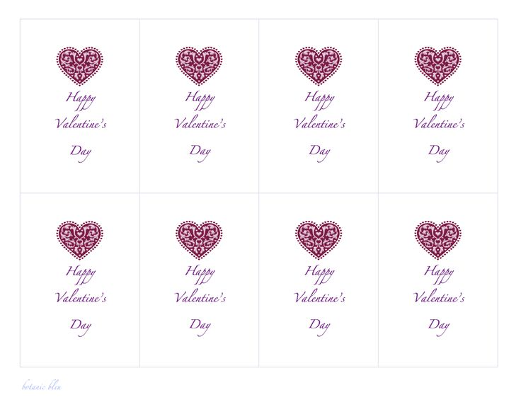 Paper Valentines Free Templates – Small Valentine Cards