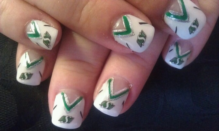 Saskatchewan Roughrider nails