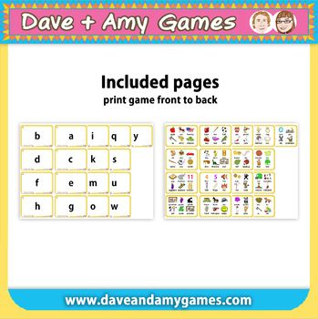 Flashcards: ABC Phonics.  26 lower case letters.  6 pictures per letter.   #EFL #ESL #ELL #Phonics #英語ゲーム