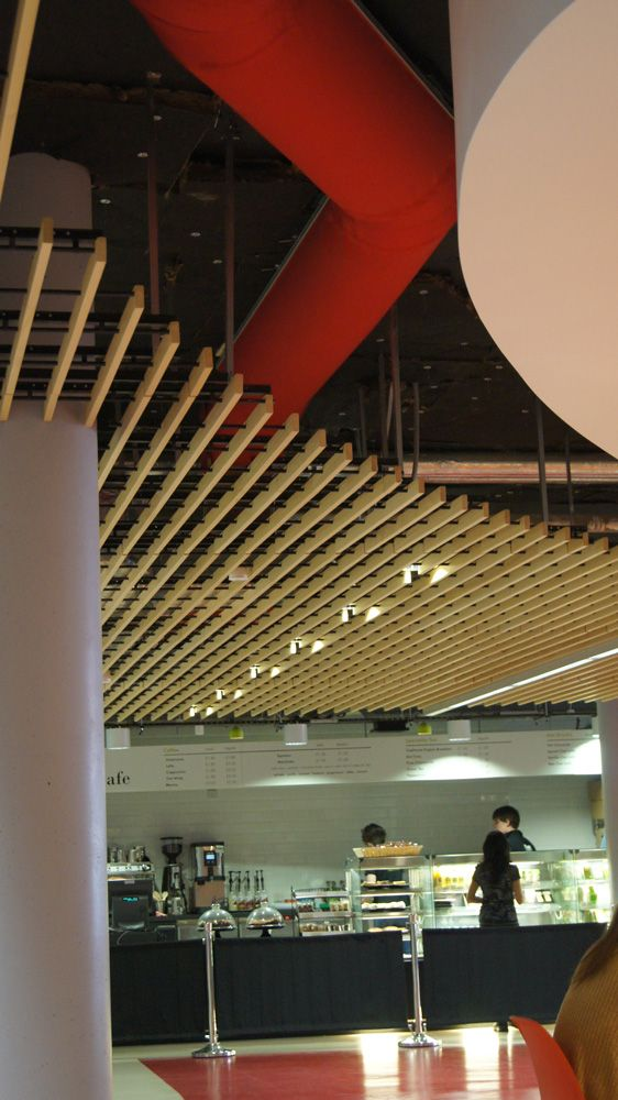 Half Round Fabric Duct with Bends at the Food Counter at Queen Mary University London