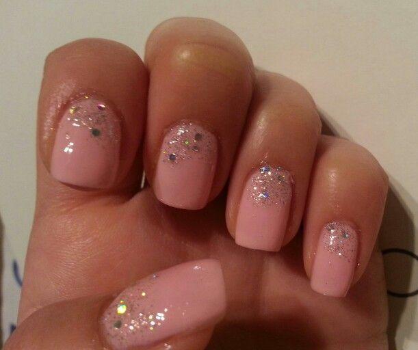 Baby pink & glitter★