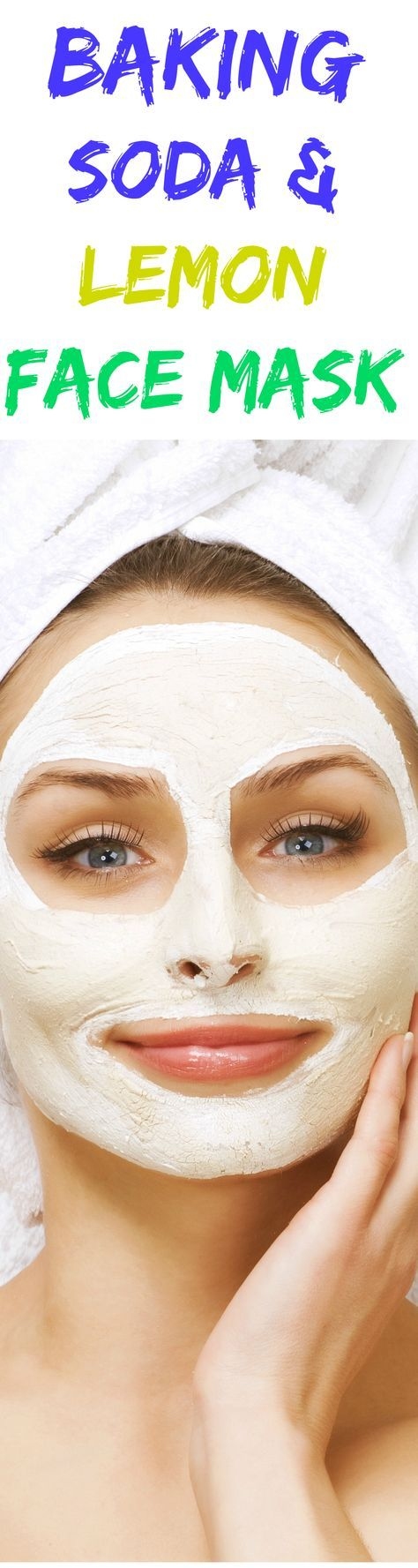 Use this baking soda & lemon face mask once a week for oily & combination skin.