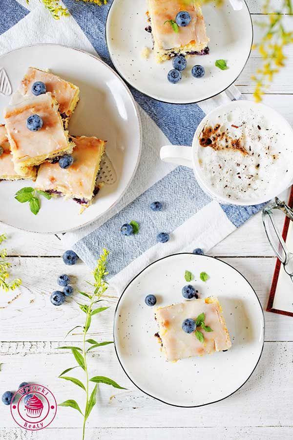 Lemon blueberry cake - ciassto cytrynowe z borówkami