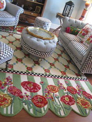 <3<3 Fabulous MacKenzie-Childs rug...