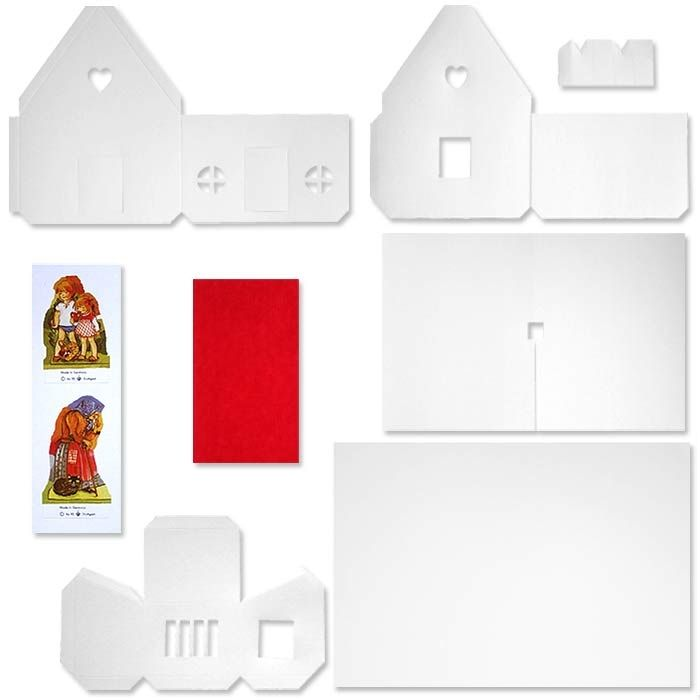 Die Cut Paper Putz House or Gingerbread House to Decorate ~ Germany