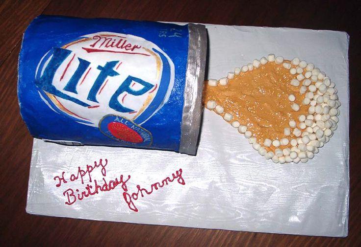 Happy Birthday Miller Lite Cake