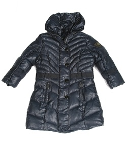 Navy puffer coat for girls! Very warm and stylish!