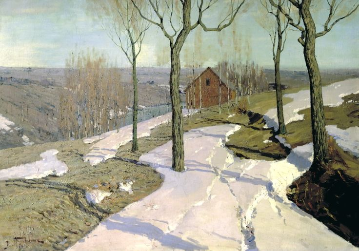 Purva Wilhelm - Last Snow. 200 Russian painters • download painting • Gallerix.ru