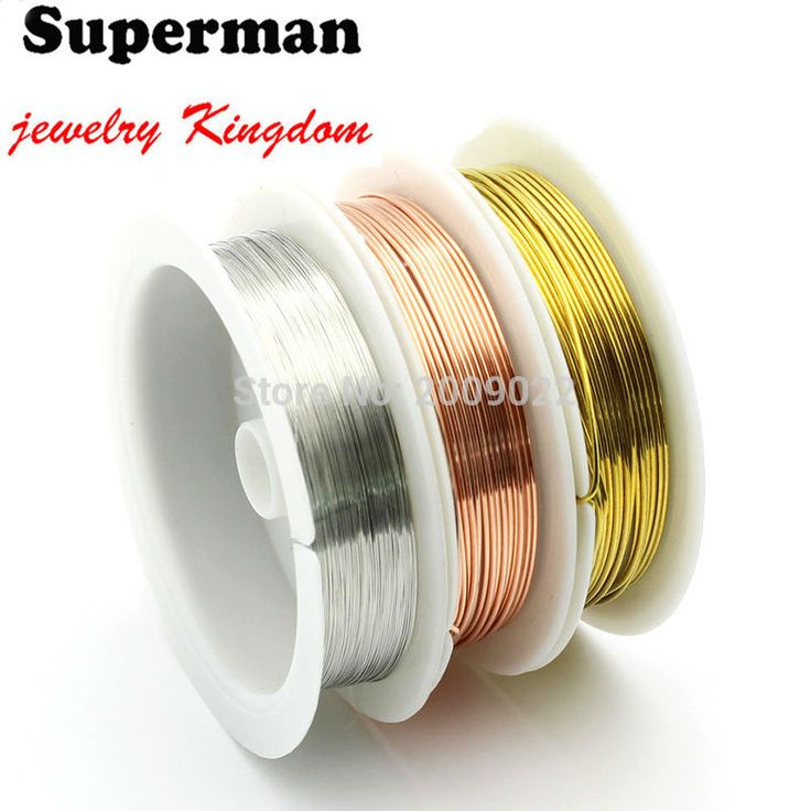 Hot 0.2/0.3/0.5/0.8/1MM Craft copper wire plated Golden Silver Colored Beading Jewelry Findings DIY Bracelet Earring Making